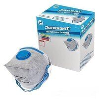 Silverline Respirator Fold Flat Valved FFP2 NR Display Box 25pk (245104)