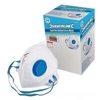 Silverline Respirator Fold Flat Valved FFP2 NR Display Box 25pk (282404)