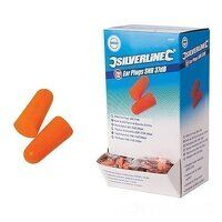 Silverline Ear Plugs SNR 37dB - 200 Pack...