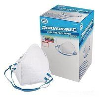 Silverline Respirator Fold Flat FFP2 NR Display Box 50pk (868550)