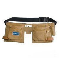 Silverline Double Pouch Tool Belt 11 Pocket (CB05)