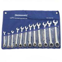 Silverline Fixed Head Ratchet Spanner Set 8-19mm 12pce (868746)