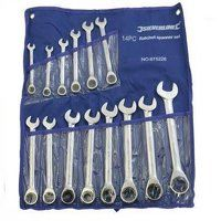 Silverline Fixed Head Ratchet Spanner Set 8-24mm 14pce (675226)
