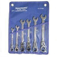 Silverline Flexible Head Ratchet Spanner Set 8-17mm 6pce (277869)