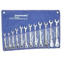 Silverline Flexible Head Ratchet Spanner Set 8-19mm 12pce 794336