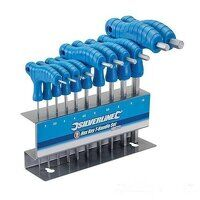 Silverline Hex Key T-Handle Set 10pce (3...