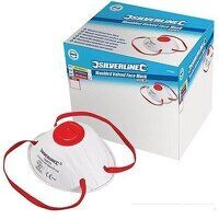 Silverline Respirator Moulded Valved FFP3 NR Box o...