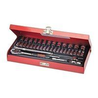 Silverline Socket Wrench Set 1/4inch Drive Metric ...