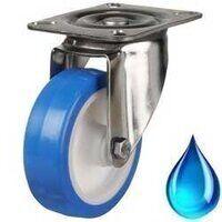 Stainless Castor - Blue Elastic Polyurethane
