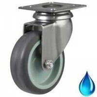 Stainless Castors - Synthetic Rubber Tyre