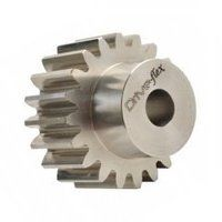 STS10/16B 1.0 Mod x 16 Tooth Metric Spur Gear in S...