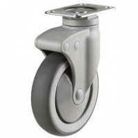 150DP4TPRSWB Synthetic Non-Marking On Plastic Bracket - Swivel Braked