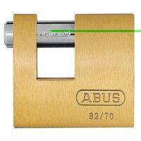 82/70mm Monoblock Brass Shutter Padlock Carded