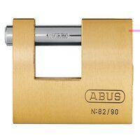 82/90mm Monoblock Brass Shutter Padlock Keyed Alik...