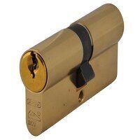 E60NP Euro Double Cylinder Polished Brass 40mm / 5...