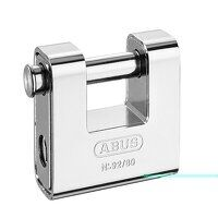 92/80mm Monoblock Brass Body Shutter Padlock Carde...