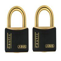 T84MB/40mm Black Rustproof Padlock Twin Pack Carde...
