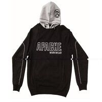 Hooded Sweatshirt Black / Grey - XL (48in)