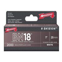 BN1816 Brad Nails 25mm White Head Pack 2...