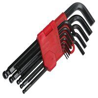 Long Arm Ball End Hexagon Key Set, 13 Piece (1.27-...