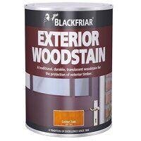 Traditional Exterior Woodstain Ebony 1 l...