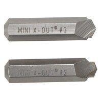 Mini X-Out® Screw Extractors Wood Screw Sizes No.6...