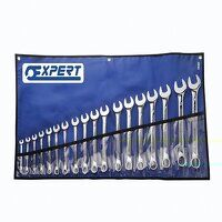 Combination Spanner Set with Tool Roll, 18 Piece