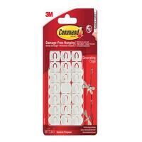 White Decorating Clips (Pack 20)