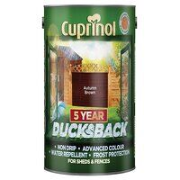 Ducksback 5 Year Waterproof for Sheds & Fences Autumn Brown 5 litre