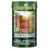 Ducksback 5 Year Waterproof for Sheds & Fences Rich Cedar 5 litre