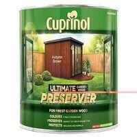 Ultimate Garden Wood Preserver Autumn Brown 1 litr...