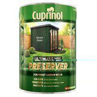 Ultimate Garden Wood Preserver Spruce Green 4 litr...