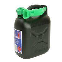 Diesel Fuel Can & Spout Black 5 litre