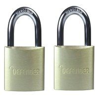 Aluminium Padlock Twin Pack 40mm