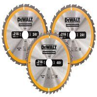 DT1962 Construction Circular Saw Blade 3 Pack 216 ...