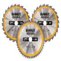 DT1963 Construction Circular Saw Blade 3 Pack 250 ...
