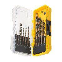 DT70728 Black & Gold HSS Drill Set, 19 Piece