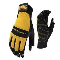 Fingerless Synthetic Padded Leather Palm Gloves