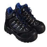 Storm Super Safety Hiker Black/Blue Boots UK 10 EU...