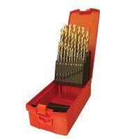 A095 Set 204 HSS TiN Coated Jobber Drill Set of 25...