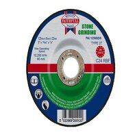 Depressed Centre Stone Grinding Disc 125 x 6 x 22....