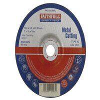 Depressed Centre Metal Cutting Disc 180 x 3.2 x 22...