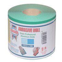 Aluminium Oxide Sanding Paper Roll Green 115mm x 5...