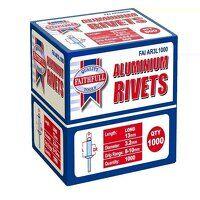 Aluminium Rivets 3.2 x 13mm Long Bulk Pack of 1000
