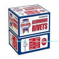 Aluminium Rivets 3.2 x 10mm Medium Bulk Pack of 1000
