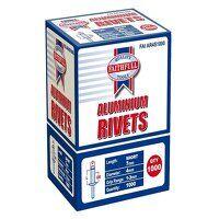 Aluminium Rivets 4 x 7mm Short Bulk Pack of 1000