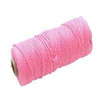 Hi-Vis Nylon Brick Line 100m (330ft) Pink