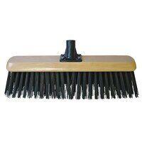 Black PVC Platform Broom Head 450mm (18in) Threade...
