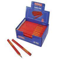 Carpenter's Pencils - Red / Medium (Display 80)