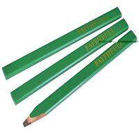Carpenter's Pencils - Green / Hard (Pack 3)